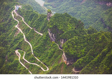Tianmen Mountain National Park view from cable car