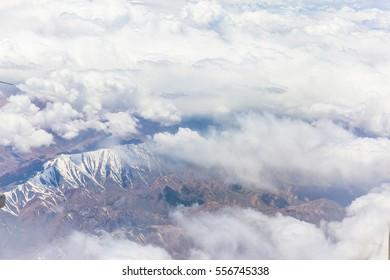 Tianshan Mountain in a bird eye view, Sinkiang,China