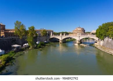 Tiber River and bridge