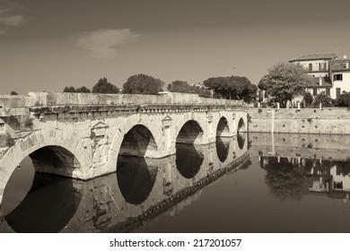 Tiberio Bridge in Rimini.