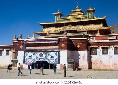 Tibet. China. 10.02.06. Sera Monastery, one of the great three Gelug university monasteries of Tibet. Tibet Autonomous region of China. The other two are Ganden Monastery and Drepung Monastery.