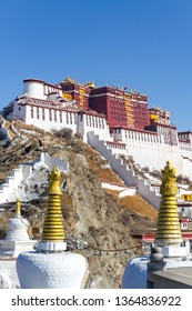 TIBET - CHINA - The north face of the Potala Palace taken from the garden of dreams.