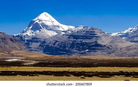 Tibet. Mount Kailash. South face.