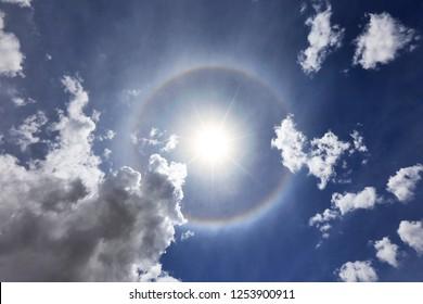 Tibet sky halo scenery