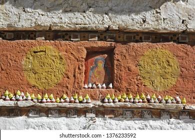 Tibetan ceremonial statuettes Tsa-Tsa in Bhutan