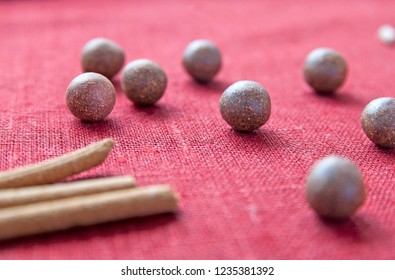 Tibetan herbal mix balls and incense sticks