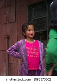 Tibetan Refugee Children from Tibet in Refugee Center. Darjeeling City,Sikkim INDIA , 16th APRIL 2013.