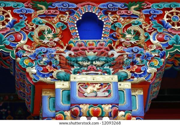 tibetan rooftop design.