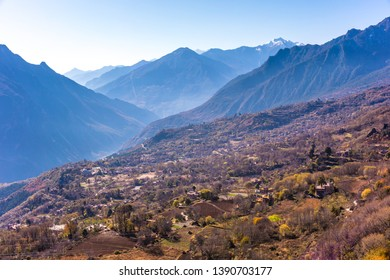 Tibetan village in Sichuan of  China