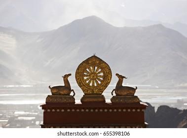 Tibetan Wheel of Life, Sera Monastery Lhasa, Tibet