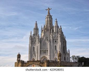 Tibidabo temple in Barcelona