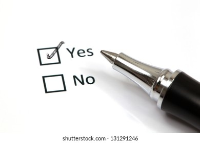 Tick placed in yes checkbox