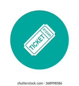 ticket icon. Flat design style