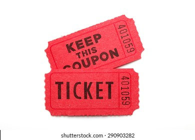 Ticket/ ticket on white background