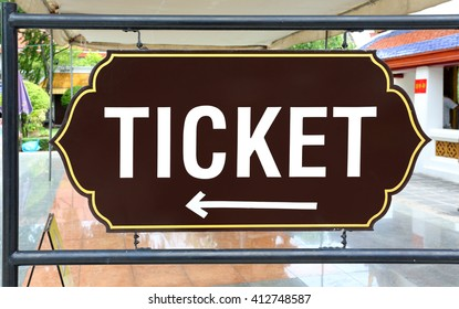 Ticket signs on board.