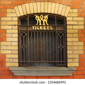 Ticket window for trains