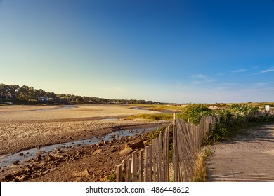 The tidal end of the Ogunquit River behind Ogunquit Beach, Maine