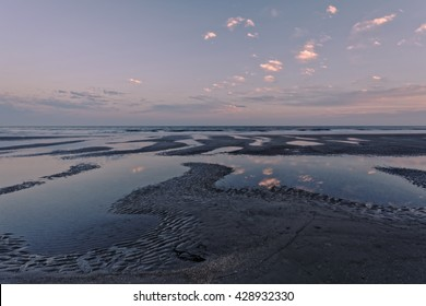 """""""Tidal Patterns"""" Still an hour to go before low tide on Hilton Head Island, South Carolina."""