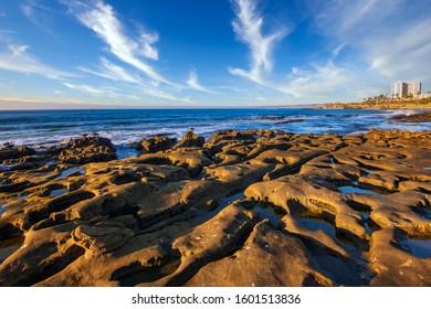 Tidal rocks & pools along the LaJolla coast in California