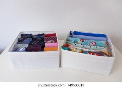 Tidy scarfs and ties with the konmari method
