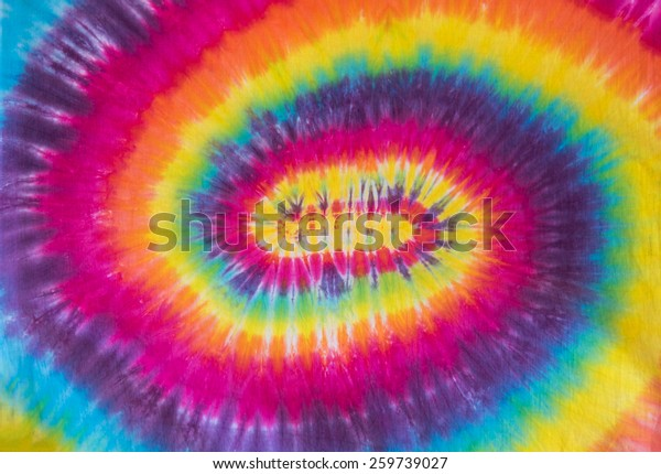 Tie Dye Colorful Psychedelic Spiral Pattern Design