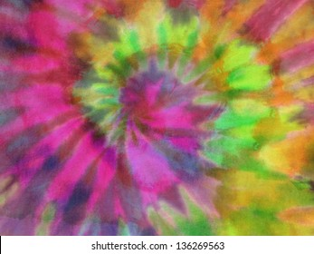 Tie Dye psychedelic fabric texture background