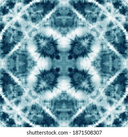 Tie dye seamless tile pattern. Watercolor pattern design on subtle white fabric texture
