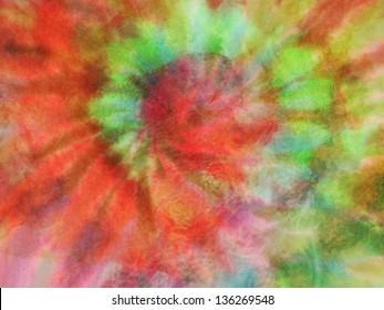 Tie Dye spiral background fabric texture