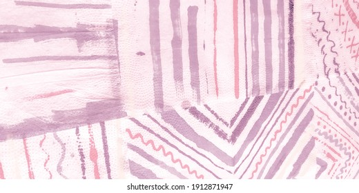 Tie Dye Stripe. Rose Water Color Motifs. Colorful Brush Stripe. Colorful Watercolor. Handdrawn Brush Stripe Watercolor Strips Pattern. Colorful Handmade.