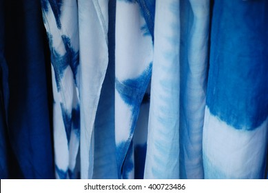 Tie dyed fabric background
