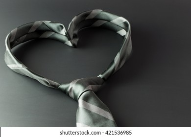 Tie forms a heart shaped for father's day background