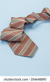 tie on blue