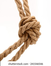 tied knot of of natural ropes
