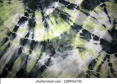 tie-dye pattern on the fabric