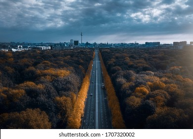 Tiergarten and Berlin skyline from the Victory Column in Berlin