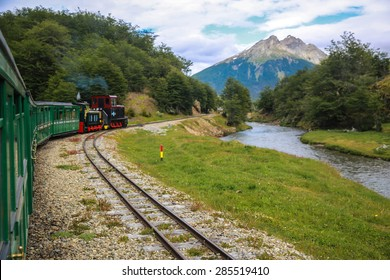 TIERRA DEL FUEGO PROVINCE, ARGENTINA - DECEMBER 29, 2014: The Train of the End of the World is the southernmost railway in the world