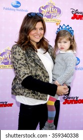 """Tiffani Thiessen at the Los Angeles premiere of """"Sofia the First: Once Upon a Princess"""" held at the Disney Studios in Los Angeles, United States on November 10, 2012."""