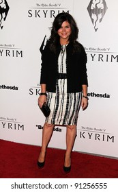"Tiffani Thiessen at the ""Skyrim"" Official Launch Party, Belasco Theater, Los Angeles, CA 11-08-11"