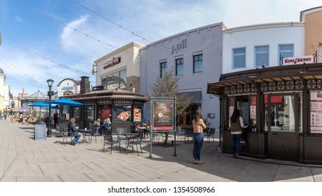 Tigard, Oregon - March 17, 2019 : Bridgeport Village, Shopping Mall in Tigard city