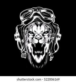Tiger against a dark background