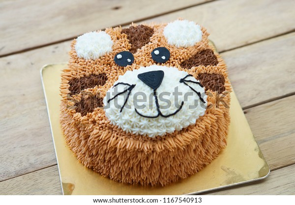Pleasant Tiger Birthday Cakes Afternoon Tea Set Stock Photo Edit Now Personalised Birthday Cards Paralily Jamesorg