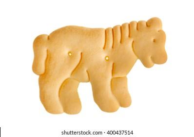 Tiger cracker isolated over white