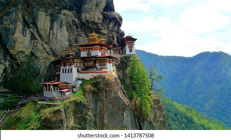 Tiger Nest of Bhutan having beautiful background
