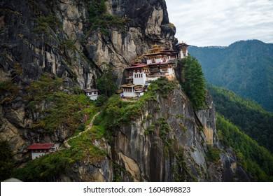 Tiger Nest Bhutan Monastery having beautiful background