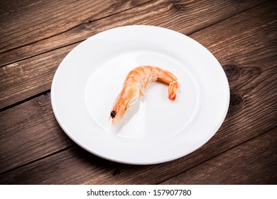 tiger shrimps on white plate
