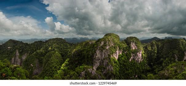 Tiger temple panorama