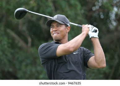 tiger woods at World golf championship, doral, Miami, feb 2007, florida