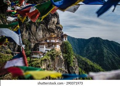 Tiger's nest monastery or Taktsang  Monastery  is a Buddhist temple complex which clings to a cliff, 3120 meters above the sea level on the side of the upper Paro valley, Bhutan.