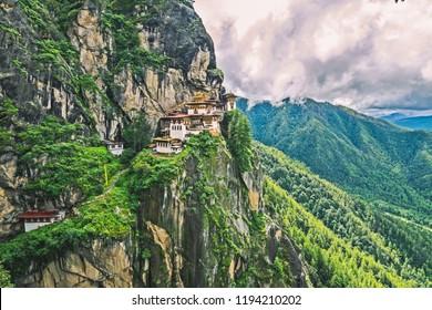 Tiger's nest Temple, Paro valley, Bhutan