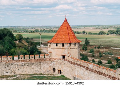 Tighina or Bender Fortress. Reconstructed XV century citadel. Transnistria, Bender - September 2019